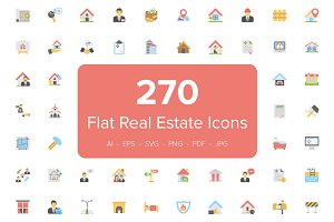 270 Flat Real Estate Icons