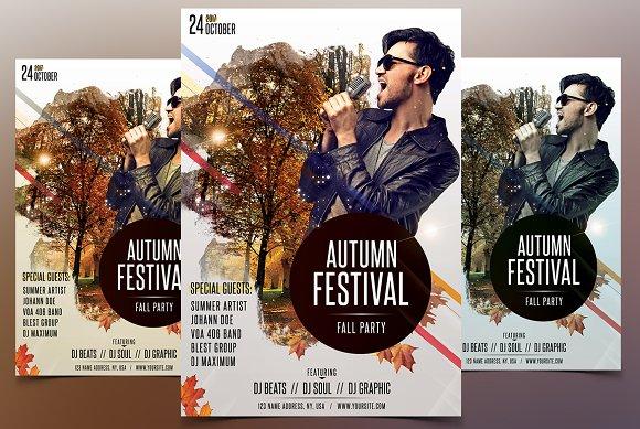 Autumn Falls Festival PSD Flyer