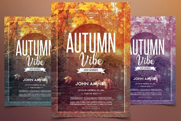 Autumn Vibe Festival PSD Flyer
