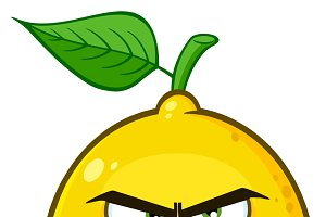 Angry Yellow Lemon Fruit