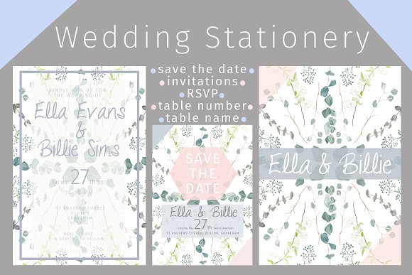 Foliage Wedding Stationery Package