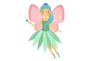 Flying winged fairy. eps+jpg