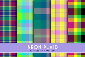 Neon Plaid Patterns