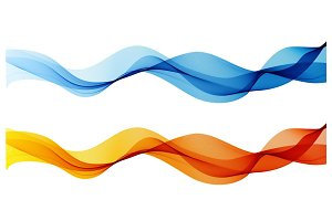 Abstract color wave design element. Curve flow motion illustration.