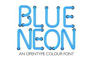 BLUE NEON - Colour font