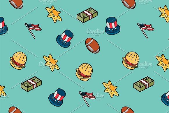 America Color Pattern