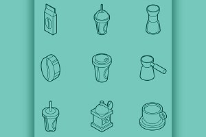 Coffee colored icons