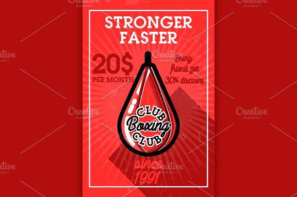 Color Vintage Boxing Club Banner