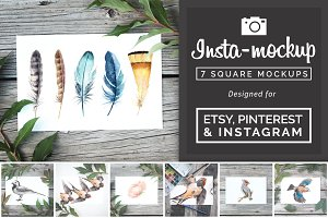 Instagram & Etsy Print Mockup