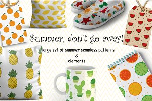 21 Colorful Summer Seamless Patterns