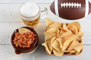 Beer, Chips and Salsa and Football