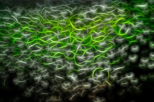 Science green particles illustration background