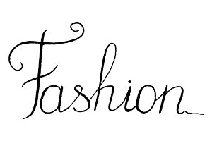 Fashion word lettering italic vector