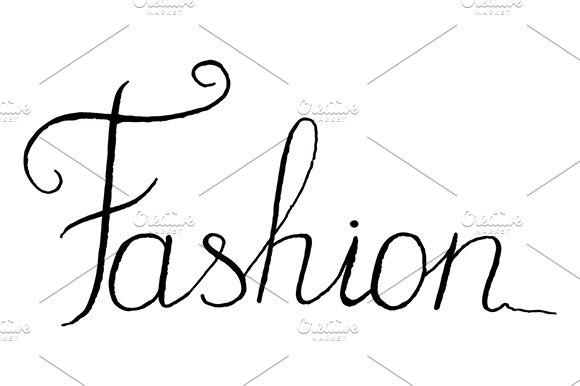 Fashion Word Lettering Italic Vector