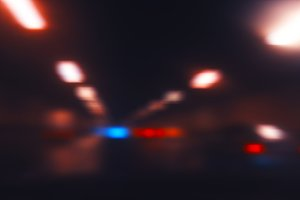Diagonal tunnel lights bokeh background