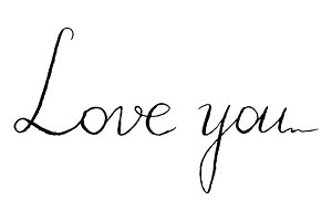 Love you phrase lettering vector