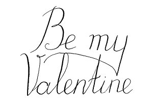 Be my Valentine phrase vector