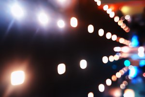 Diagonal illumination bokeh background