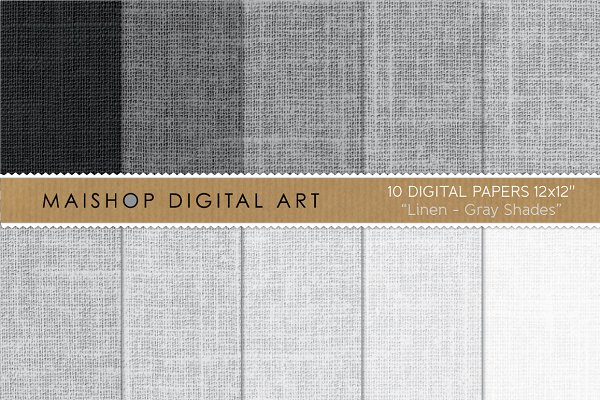 Digital Papers-Linen-Gray Shades