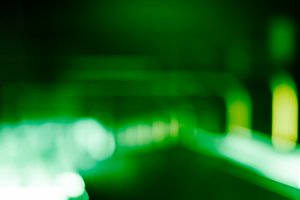 Norway green metro transportation bokeh background