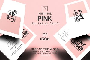 Minimal Pink Business Card