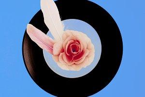 Vinyl Retro minimal collage