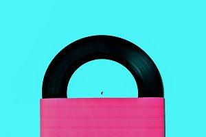 Vinyl Retro minimal art design
