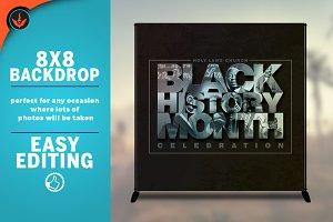Black History Month 8x8 Backdrop
