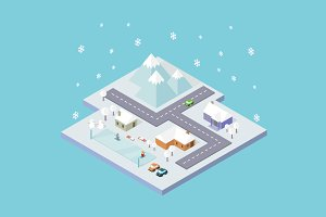 Isometric City Winter