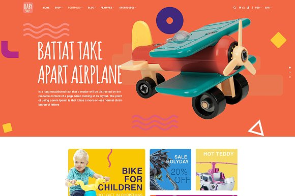 BabyShop PSD Template For Baby