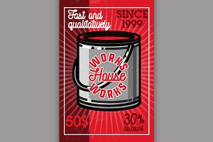 Color vintage house works banner