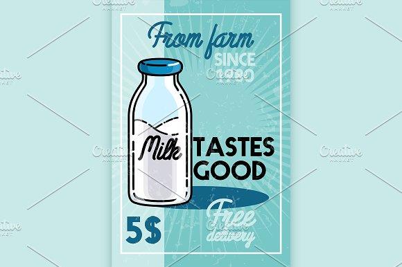 Color Vintage Milk Banner