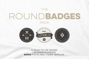 The ROUND BADGE pack
