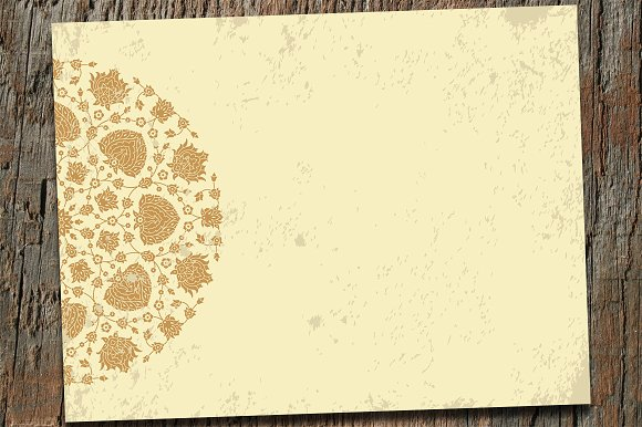 Old Paper Template With Pattern