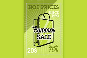 Color vintage summer sale banner