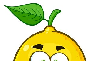 Funny Yellow Lemon Fruit
