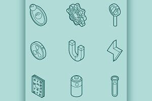 Physics color icons