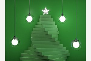 Christmas tree. 3D rendering