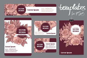 Floral vector templates