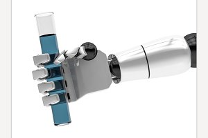 Concept of a robotic mechanical arm