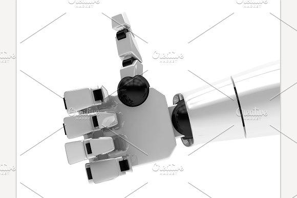 Concept Of A Robotic Mechanical Arm