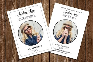 Graduation Announcement Card V606