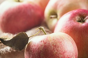 Fresh organic ripe apples