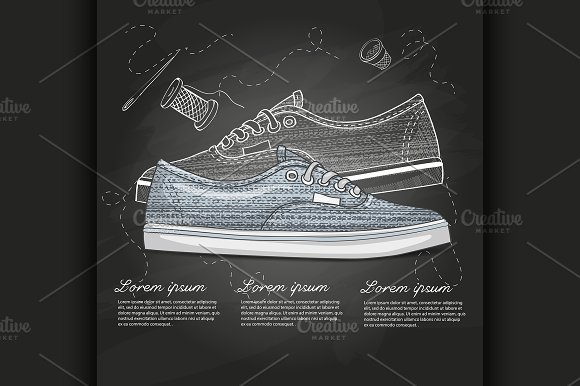Fashion Vector Sketch Womens Shoes