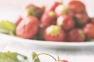 Heap of fresh strawberries