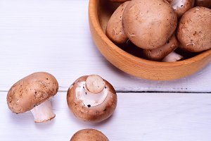 Fresh mushrooms champignon