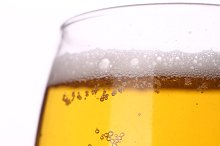 Light beer closeup