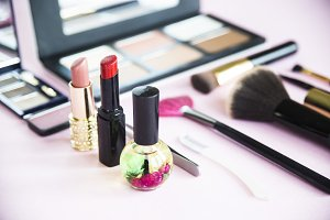 Means for applying makeup - powder, lipstick, contouring and more