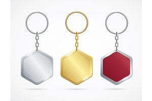 Metal and Plastic Keychains
