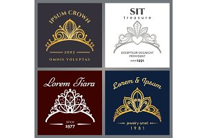Tiara luxury logo set